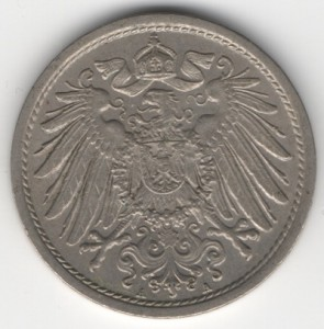 German Empire 10 Pfennig reverse