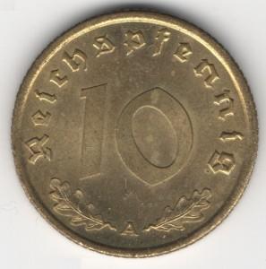 10 Reichspfennig obverse