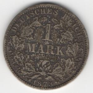 German Empire 1 Mark obverse