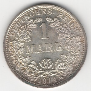 German Empire 1 Mark obverse