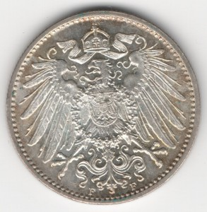 German Empire 1 Mark reverse