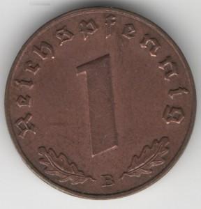 1 Reichspfennig obverse