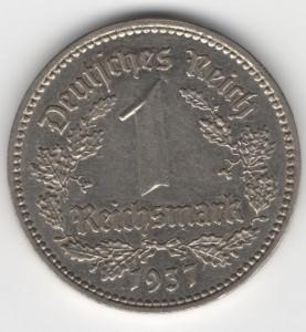 1 Reichsmark obverse