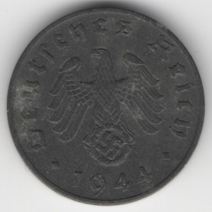 1 Reichspfennig reverse