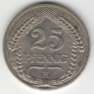 German Empire 25 Pfennig obverse