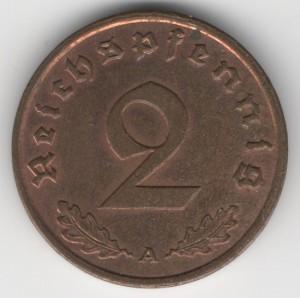 2 Reichspfennig obverse