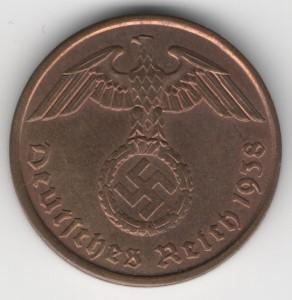 2 Reichspfennig reverse