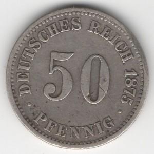 German Empire 50 Pfennig obverse