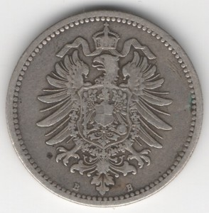 German Empire 50 Pfennig reverse