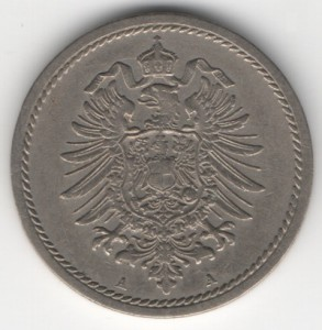 German Empire 5 Pfennig reverse