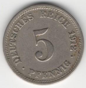 German Empire 5 Pfennig obverse