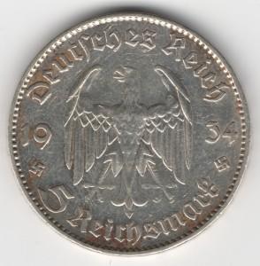 5 Reichsmark obverse