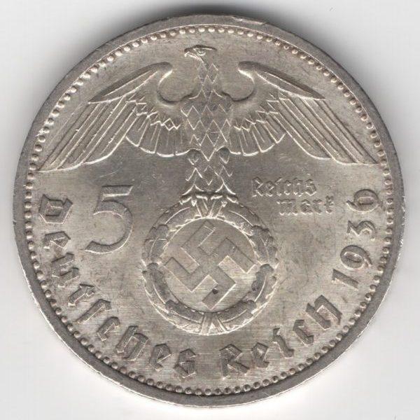 Third Reich - 5 Reichsmark