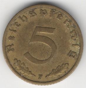 5 Reichspfennig obverse