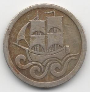 1/2 Gulden Danzig reverse