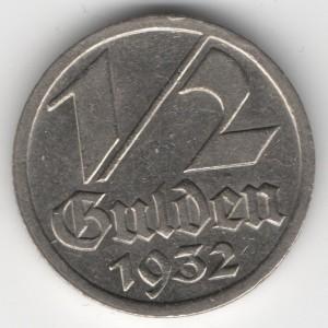 1/2 Gulden Danzig obverse