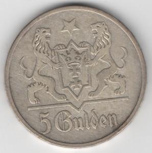 5 Gulden Danzig obverse