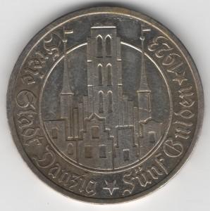 5 Gulden Danzig reverse
