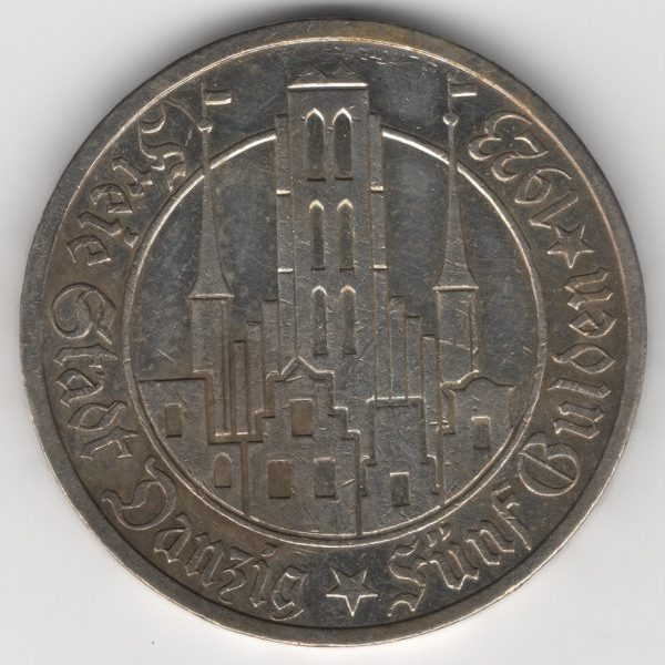 Free City of Danzig - 5 Gulden