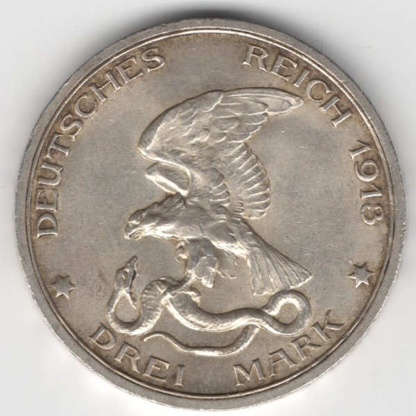 Prussia - 3 Mark 1913