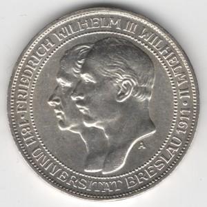Prussia 3 Mark Wilhelm reverse