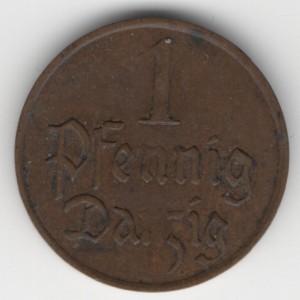 1 Pfennig Danzig obverse