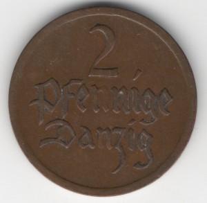 2 Pfennig Danzig obverse