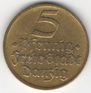 5 Pfennig Danzig obverse
