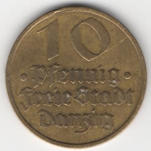 10 Pfennig Danzig obverse