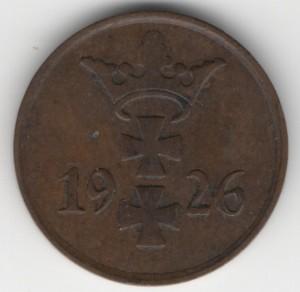 1 Pfennig Danzig reverse
