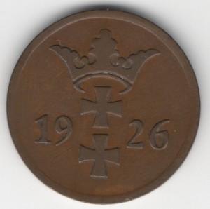 2 Pfennig Danzig reverse