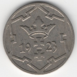 5 Pfennige Danzig reverse