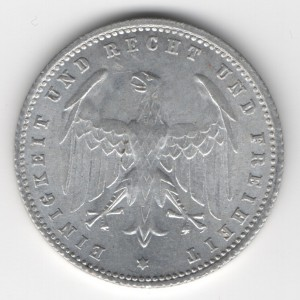 Weimar Republic 200 Mark reverse