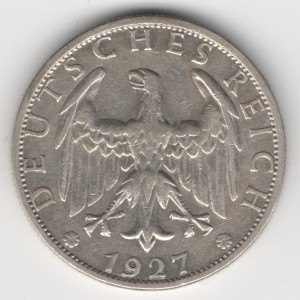 Weimar Republic 2 Reichsmark obverse