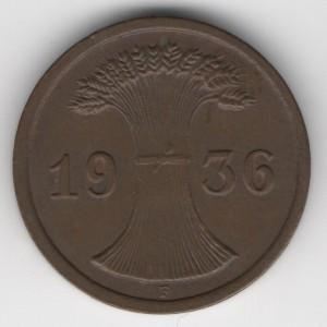 2 Pfennig reverse