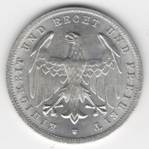 Weimar Republic 500 Mark reverse