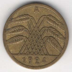 5 Pfennig reverse
