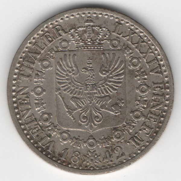 Prussia 1/6 Thaler 1842