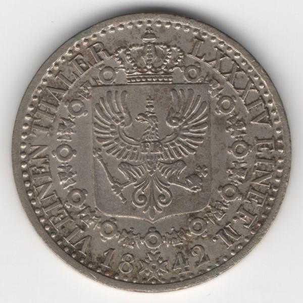 Prussia 1/6 Thaler 1842