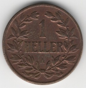 German East Africa 1 Heller obverse