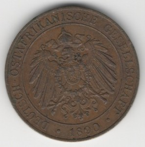 German East Africa 1 Pesa obverse