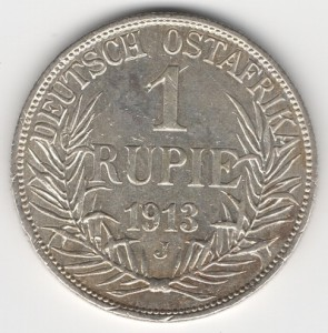 German East Africa 1 Rupee obverse