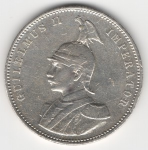 German East Africa 1 Rupee reverse