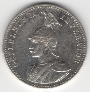 German East Africa 1/2 Rupee reverse