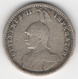 German East Africa 1/4 Rupee reverse