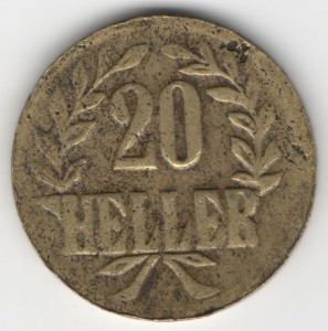 German East Africa 20 Heller obverse