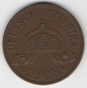 German East Africa 5 Heller reverse