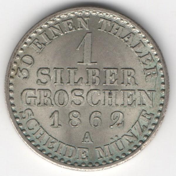 Prussia 1 Silbergroschen 1862