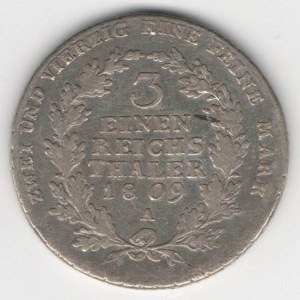 Prussia 1/3 Thaler obverse