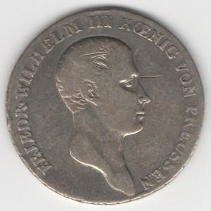 Prussia 1/3 Thaler reverse